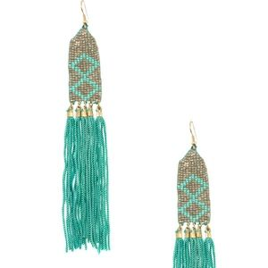 Jewelry - NEW Boho Beaded Tassel Earrings